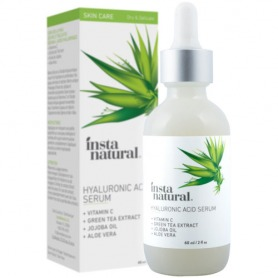 InstaNatural - Hyaluronic Acid Serum - With Vitamin C, Organic & Pure Ingredients - 2 oz