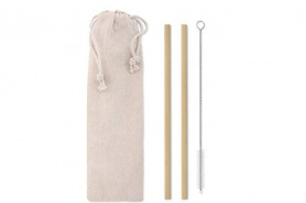 2 sets reusable bamboo straws