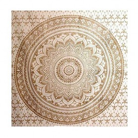 Gold Mandala tapestry wall hanging