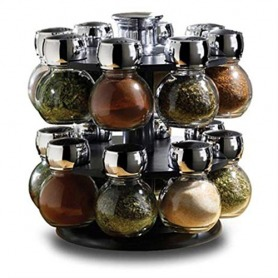 Rotating 12 piece spice rack