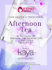 Afternoon tea with Kaya Skin Clinic