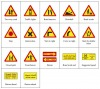 Temporary warning signs