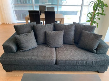 Super comfy black/brown 3.5 seater from The One.