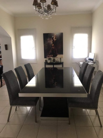 Designer dining table with 6 chairs
