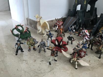 ELC Tower of Doom and 30 + figures