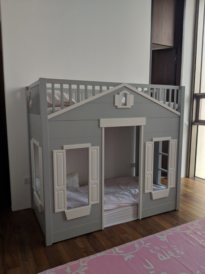 toy house bunk bed pottery barn