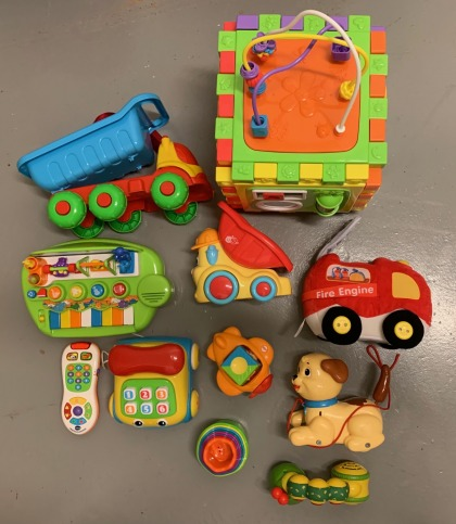 Bunch of baby toys