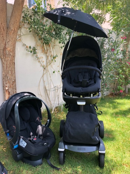 MUST SEE STOKKE XPLORY BLACK EDITION WITH CAR SEAT AND FULL ACCESSORIES