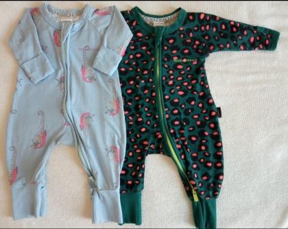 2 x Bonds newborn baby unisex Wondersuit's