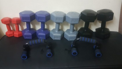 full Dumbbells Set with Push Up Bar Gym at Home
