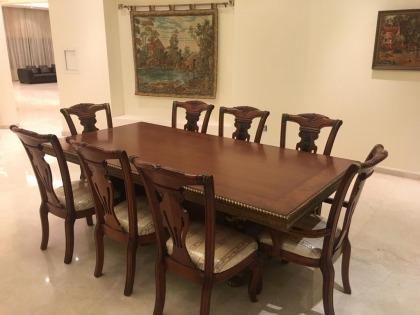 8 Seater Hardwood Dining Room Set (Huzaifa) in Exc. Con