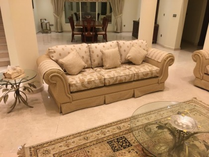 7 Seat Sofa Set and Sideboard in Excellent Condition