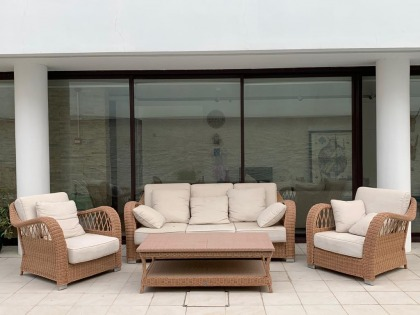 Outdoor lounge set, high quality Italian brand