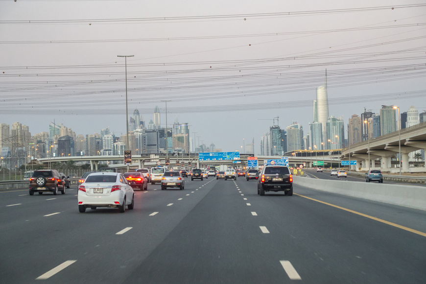 New Salik Gate in Dubai on SZR