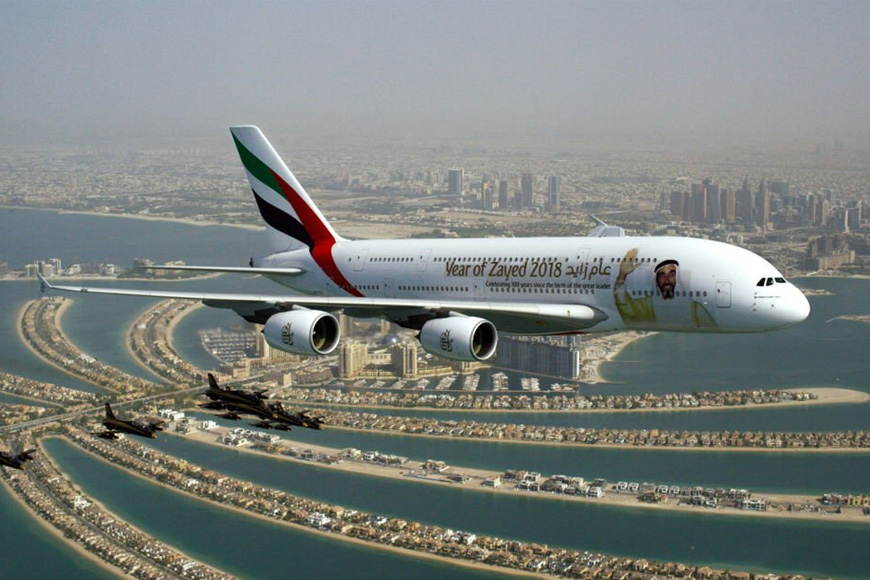 UAE Airlines Flyby for UAE National Day 2018